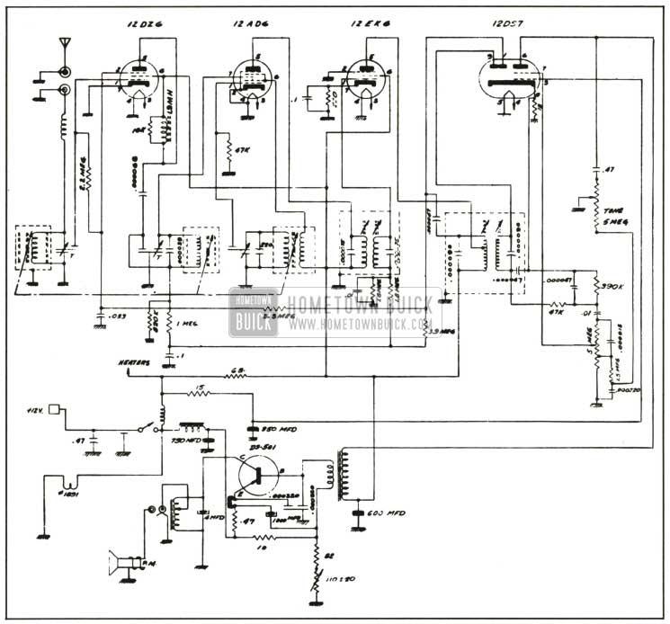 1959 Buick Radio Circuit Schematic-Sonomatic
