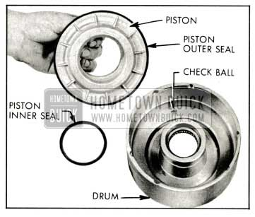 1959 Buick Removal of Clutch Piston and Oil Seal