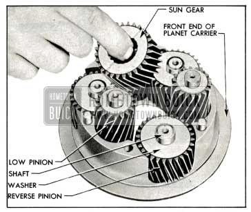 1959 Buick Removal of Sun Gear and Planet Pinions