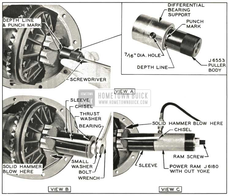 1959 Buick Removing Differential Bearing Support