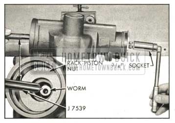 1959 Buick Removing Rack-Piston Nut From Housing