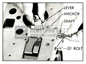 1959 Buick Removing Reverse Band Operating Lever and Shaft