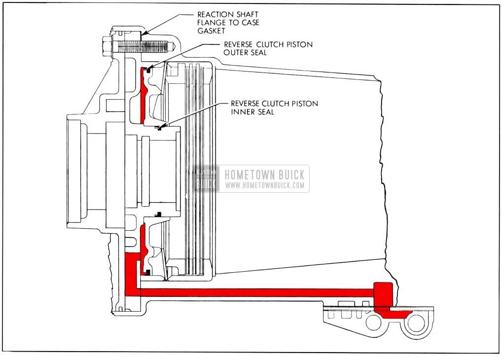 1959 Buick Reverse Clutch Piston Oil Supply