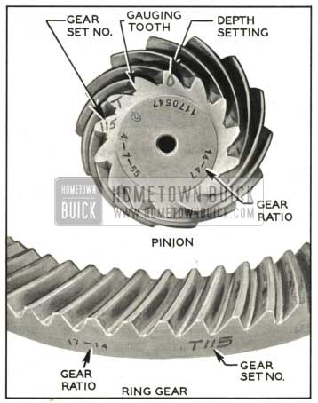 1959 Buick Ring and Pinion Gear Set Markings