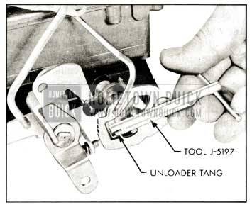 1959 Buick Rochester Carburetor Adjusting Choke Unloader