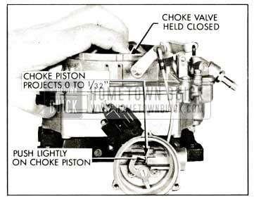 1959 Buick Rochester Carburetor Checking Choke Piston Adjustment