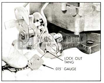 1959 Buick Rochester Carburetor Checking Secondary Lock-Out Adjustment