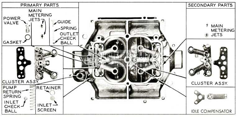 1959 Buick Rochester Carburetor Main Body Parts