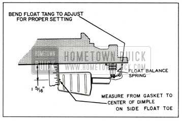 1959 Buick Rochester Carburetor Secondary Float Drop Adjustment