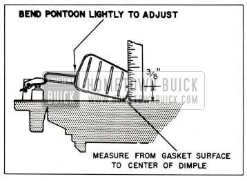 1959 Buick Rochester Carburetor Secondary float Toe Adjustment