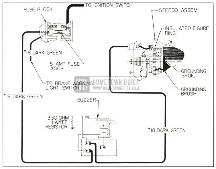 1959 Buick Safety-Buzzer Circuit Diagram