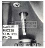 1959 Buick Safety Buzzer Control Knob