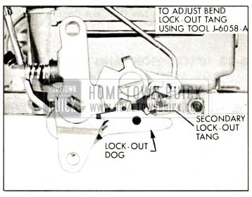 1959 Buick Secondary Throttle Lock-Out Adjustment