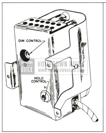 1959 Buick Sensitivity Controls
