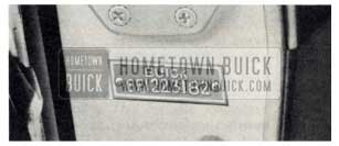 1959 Buick Serial Number Location