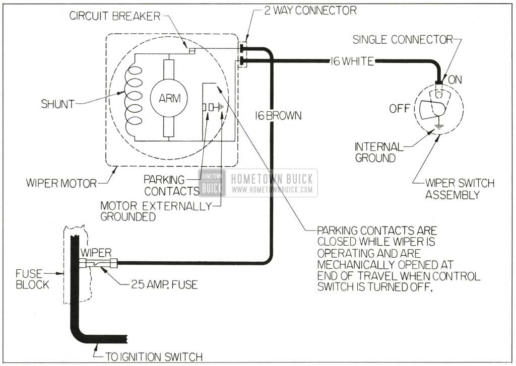 Wiring Diagram For Wiper Motor : Windshield washer diagram instrument panel