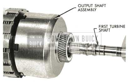 1959 Buick Triple Turbine Transmission - Assembly of First Turbine Shaft