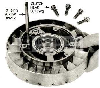 1959 Buick Triple Turbine Transmission - Clutch Head Screws and Lock Washers