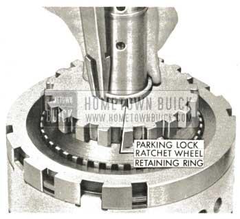 1959 Buick Triple Turbine Transmission - Examine Parking Lock Ratchet Wheel