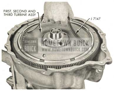 1959 Buick Triple Turbine Transmission - First, Second and Third Turbine Assembly