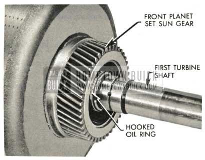 1959 Buick Triple Turbine Transmission - First Turbine Shaft Installation