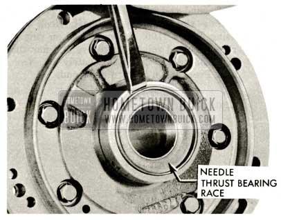 1959 Buick Triple Turbine Transmission - Flanged Needle Thrust Bearing Race Inspection