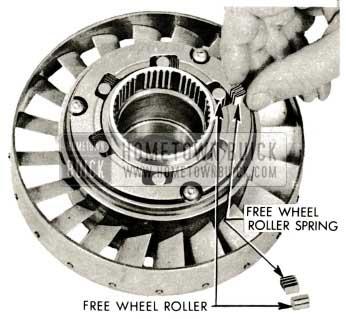 1959 Buick Triple Turbine Transmission - Free Wheel Clutch Rollers