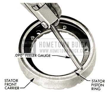 1959 Buick Triple Turbine Transmission - Insert Stator Piston Ring