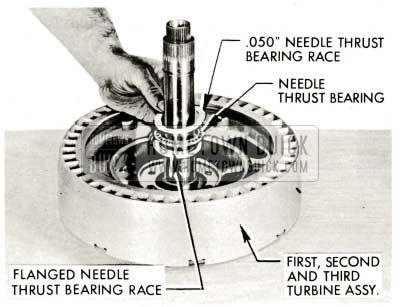 1959 Buick Triple Turbine Transmission - Install Flanged Needle Bearing Race