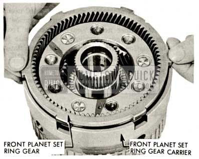 1959 Buick Triple Turbine Transmission - Install Front Planet Set Ring Gear