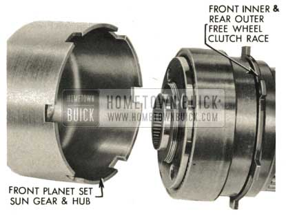 1959 Buick Triple Turbine Transmission - Install Front Planet Set Sun Gear