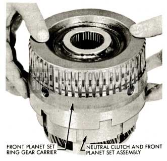 1959 Buick Triple Turbine Transmission - Install Front Ring Gear Carrier