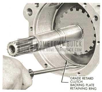 1959 Buick Triple Turbine Transmission - Install Grade Retard Clutch Backing Plate Retaining Ring