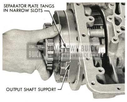 1959 Buick Triple Turbine Transmission - Install Grade Retard Clutch Backing Plate