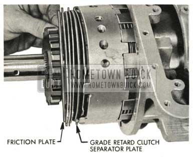 1959 Buick Triple Turbine Transmission - Install Grade Retard Clutch Separator Plate