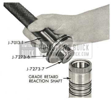 1959 Buick Triple Turbine Transmission - Install Grade Retard Reaction Shaft Rear Bushing