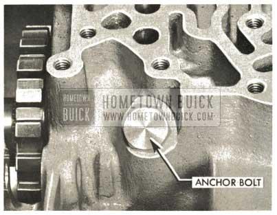 1959 Buick Triple Turbine Transmission - Install Inner Anchor Bolt