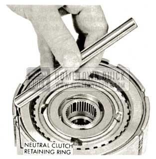 1959 Buick Triple Turbine Transmission - Install Neutral Clutch Retaining Ring