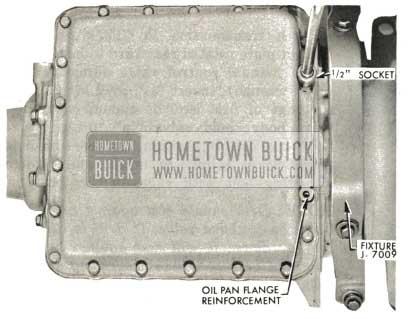 1959 Buick Triple Turbine Transmission - Install Oil Pan Gasket