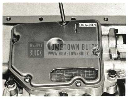 1959 Buick Triple Turbine Transmission - Install Oil Screen