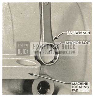 1959 Buick Triple Turbine Transmission - Install Outer Anchor Bolt