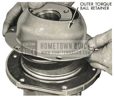 1959 Buick Triple Turbine Transmission - Install Outer Torque Ball Retainer