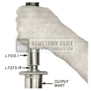 1959 Buick Triple Turbine Transmission - Install Output Shaft Bushing