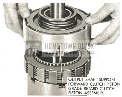 1959 Buick Triple Turbine Transmission - Install Output Shaft Support Assembly