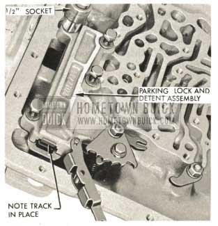 1959 Buick Triple Turbine Transmission - Install Parking Lock Mechanism