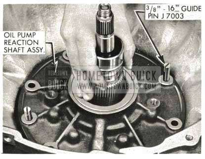 1959 Buick Triple Turbine Transmission - Install Reaction Flange