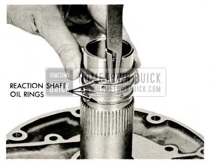 1959 Buick Triple Turbine Transmission - Install Reaction Shaft Oil Rings
