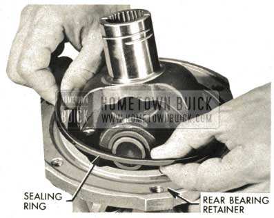 1959 Buick Triple Turbine Transmission - Install Rear Bearing Retainer