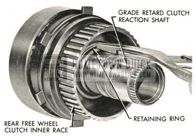 1959 Buick Triple Turbine Transmission - Install Retaining Ring