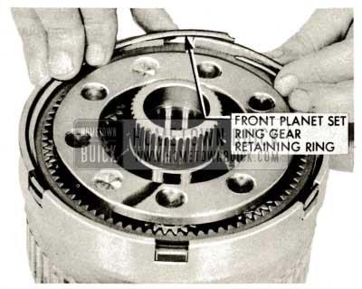 1959 Buick Triple Turbine Transmission - Install Ring Gear Retaining Ring